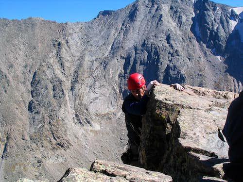 Haydar getting to the summit