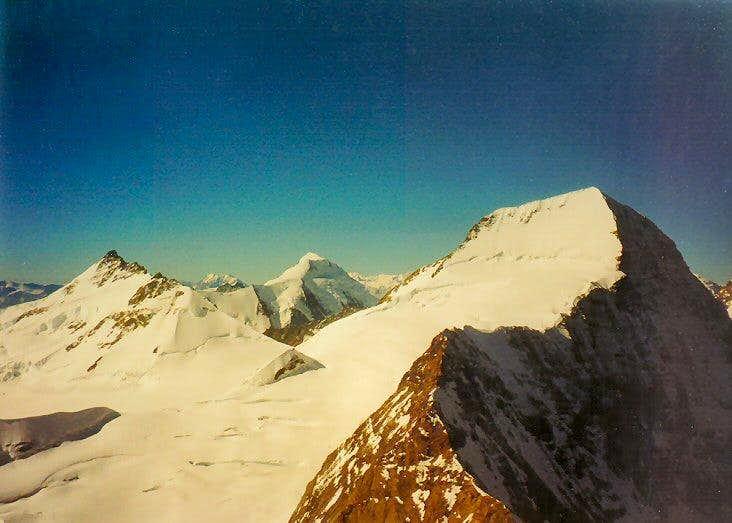 Mönch seen from Eiger Mittelegi ridge