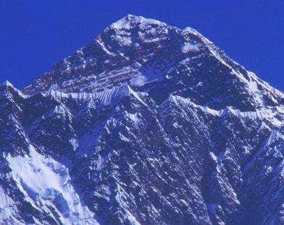 A close up of Everest from...