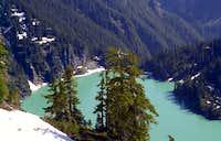 Glacier fed blanca lake