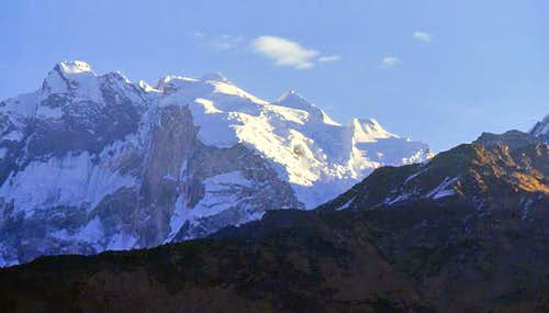 Annapurna in the morning in...