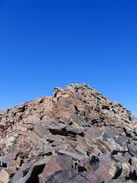 Matt descending the West Twin