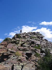 Matt nearing the top of Dromedary