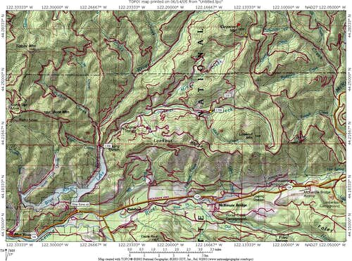 Map for Carpenter Mtn area