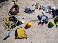 The gear we took to do the Mounteers Route