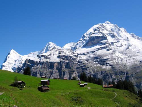 Eiger(3970m), Monch(4107m) and Jungfrau(4158m)