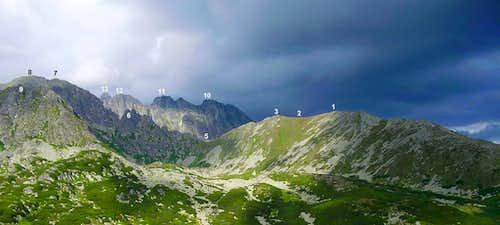 overview of Sedielkova kopa from east