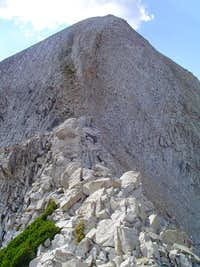 East ridge scramble