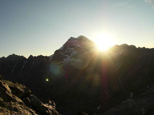 Sun-rising behind Grand Combin
