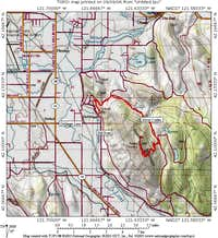 Map for Stukel Mtn area