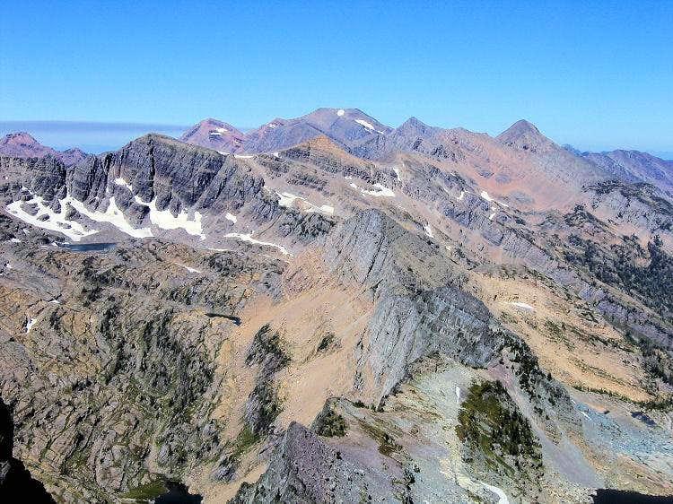McDonald Peak from Gray Wolf summit