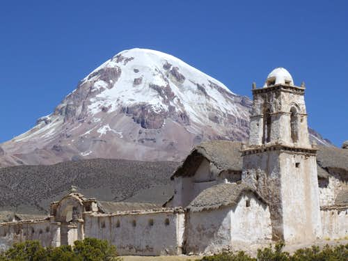 Tomorapi Church, Volcan Sajama, Bolivia