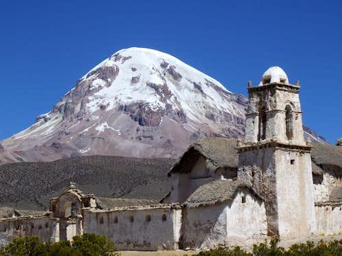 Tomorapi Church, Volcan Sajama, Bolivia