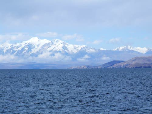 Illampu from Lake Titicaca, Bolivia