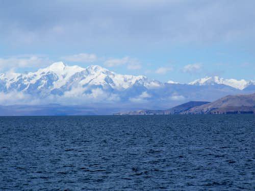 Illampu from Lake Titicaca, Bolivia