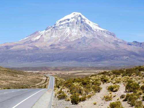 Road to Volcan Sajama, Bolivia