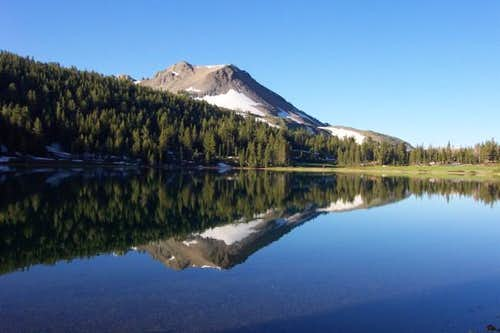 Hiram Peak reflecting in...