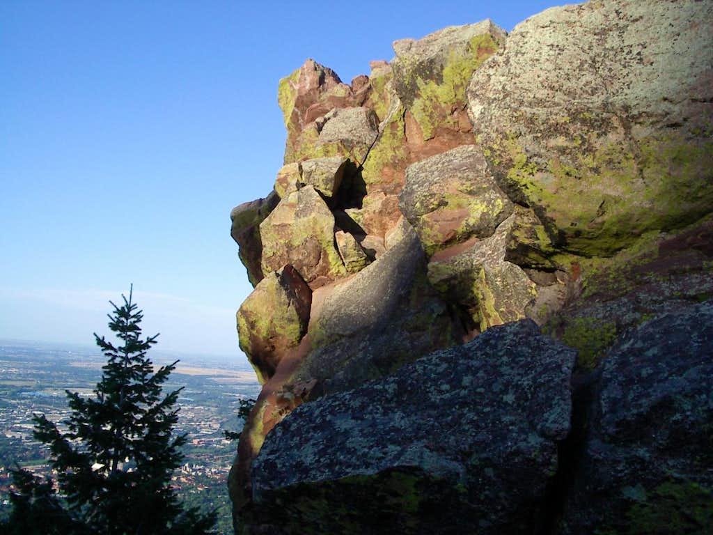 Boulder below 2nd Flatiron