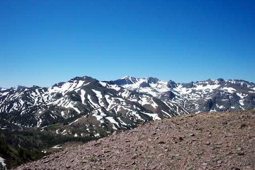 A snow covered Leavitt Peak...