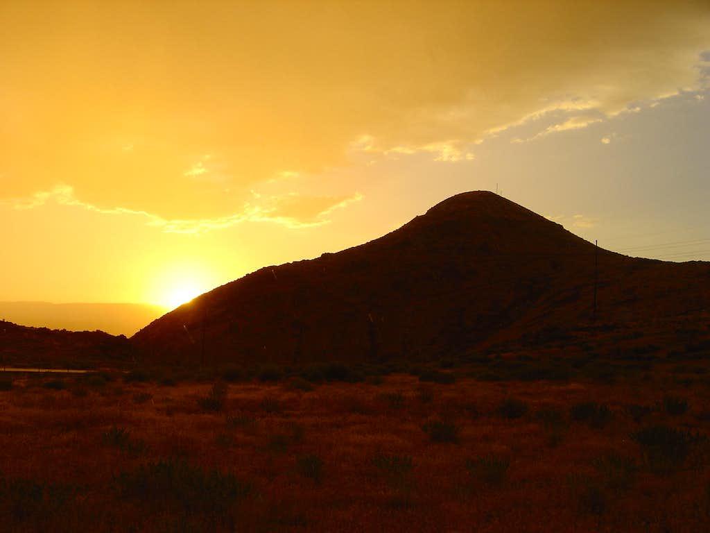Sunset and Rain over Rattlesnake
