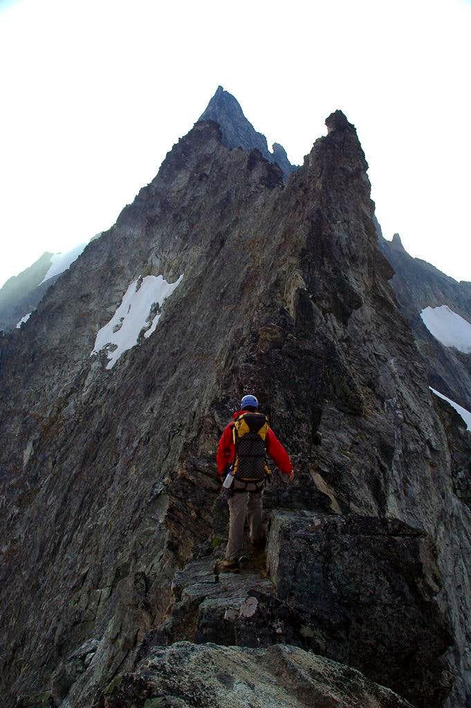 Torment-Forbidden traverse - start of knife-edge ridge
