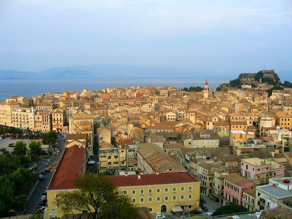 Corfu town in sunset : Photos, Diagrams & Topos : SummitPost