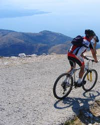 Mountainbiker on Pantokrator