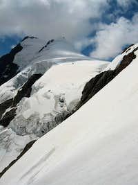 Secondary and main summits of Aletschhorn