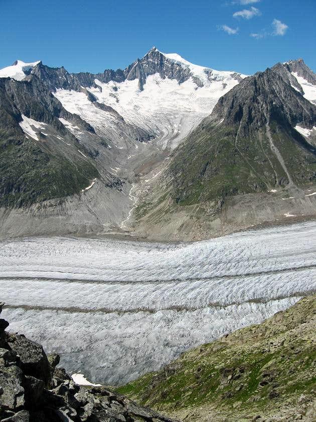 Mittelaletsch glacier and Aletschhorn