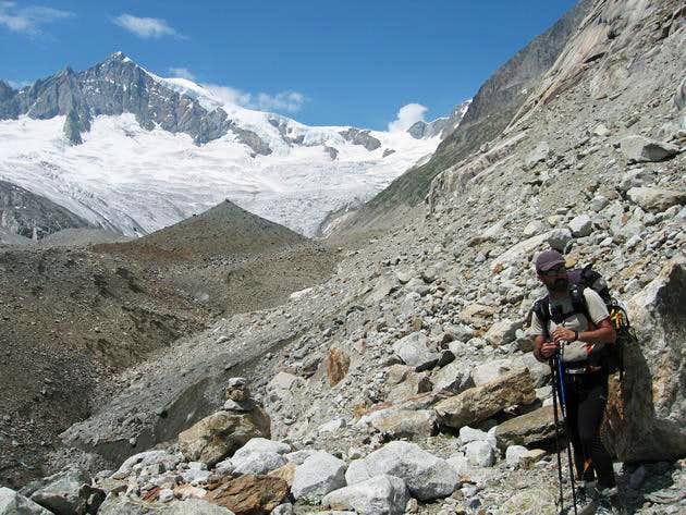 Aletschhorn and Mittelaletsch glacier