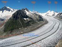 Aletschhorn and Grosser Aletschgletscher