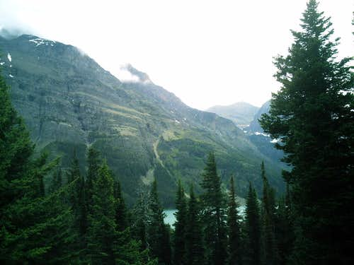 From Going To The Sun Road at St. Mary\'s Lake
