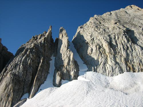 Middle and Right Couloirs