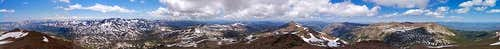 Sonora Peak summit panorama