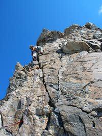 Sven leading on the Direct S. Ridge