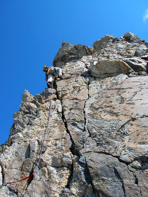 Sven leading on the Direct S. Ridge