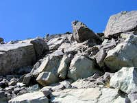 Pic #11 - Boulders above the notch, then easy to the top...