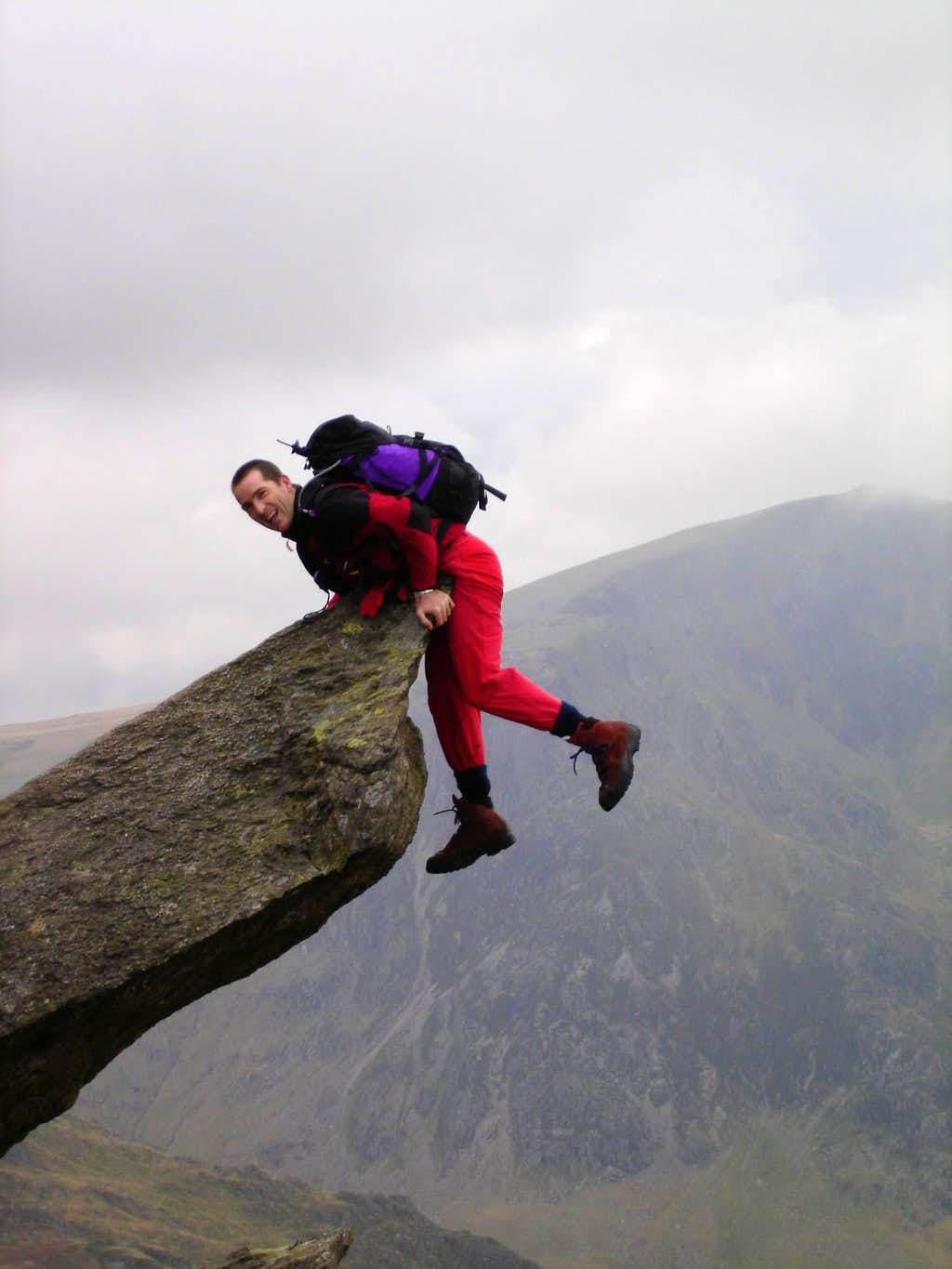 me on Tryfan North ridge