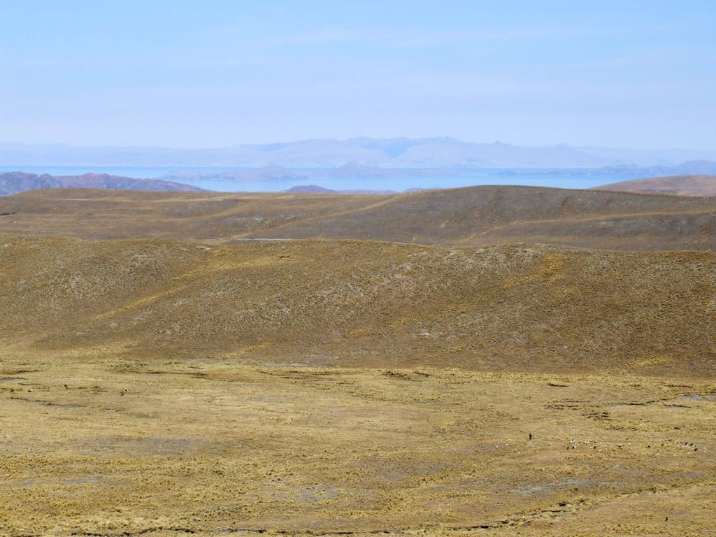 View over the Altiplano twds Lake Titicaca