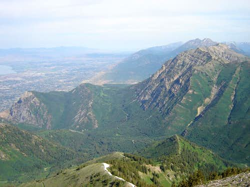 View North from Provo Peak summit