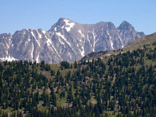 This photo of Apache Peak and...