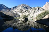 Mount Mahler reflected in Lake Agnes, Sept. 4, 2006.
