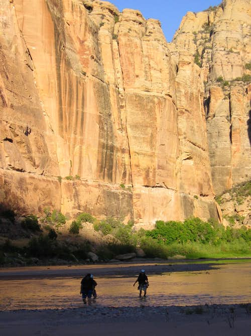 Wading the Yampa River