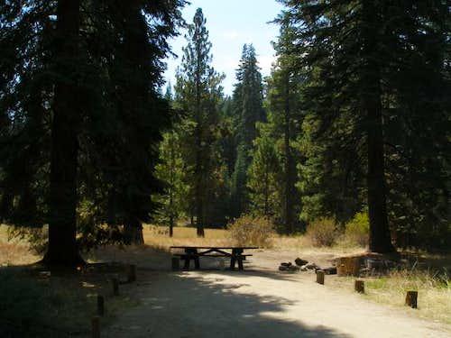 Campsite at Quaking Aspen Campground