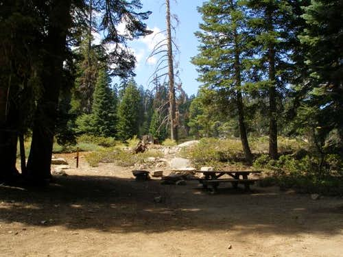 Small camping area near the Needles Trailhead