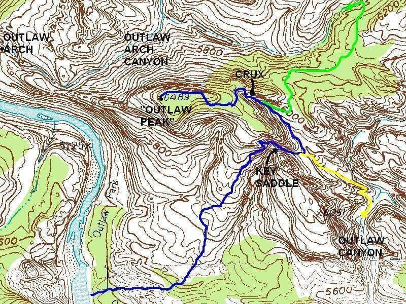 Outlaw Peak Map