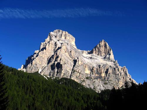 Monte Pelmo seen from Zoppe\' di Cadore