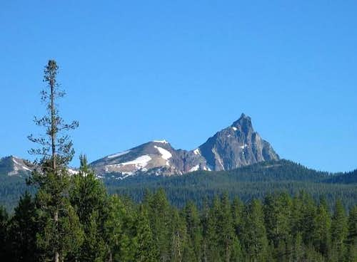 Mt. Thielsen showing its...