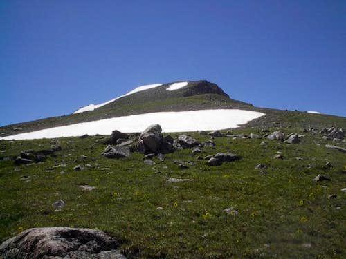 Climbing the tundra slope on...