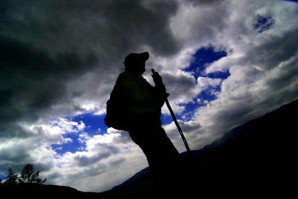 Hiker on John Rock